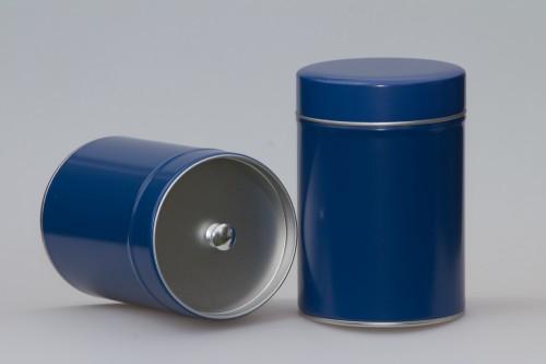 Gewürzdose mit zusätzlichem Innendeckel  groß leer blau - 1 Stk