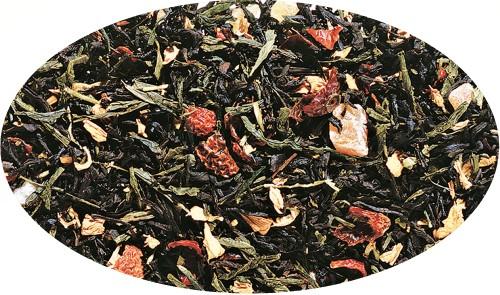 Schwarz-/Grünteemsichung Zaubermond Erdbeer-Note aromatisiert - 250g