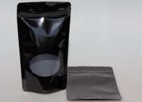 Standbodenbeutel mit Zipverschluss  - schwarz 130x70x250 - 1Stk