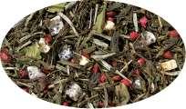 Premiumteemisch.Weiß./Grü. Tee Granatapfel Drachenfrucht aromatisiert - 250g