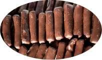 Ingwerstäbchen in Halbbitter-Schokolade - 250g
